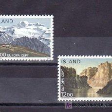 Sellos: ISLANDIA 601/2 SIN CHARNELA, TEMA EUROPA 1986, PROTECCION DE LA NATURALEZA Y DESARROLLO, . Lote 11843860