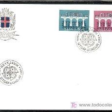 Sellos: ISLANDIA 567/8 PRIMER DIA, TEMA EUROPA 1984, 25º ANIVERSARIO CONFERENCIA EUROPEA, . Lote 10581856