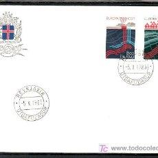 Sellos: ISLANDIA 551/2 PRIMER DIA, TEMA EUROPA 1983, GRANDES OBRAS DE LA HUMANIDAD, . Lote 10834408