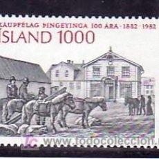 Sellos: ISLANDIA 536 SIN CHARNELA, CENTENARIO FUNDACION COOPERATIVA AGRICOLA DE THINGEYINGAR, . Lote 9797145