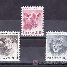 Sellos: ISLANDIA 533/5 SIN CHARNELA, FAUNA, ANIMALES, . Lote 9797157