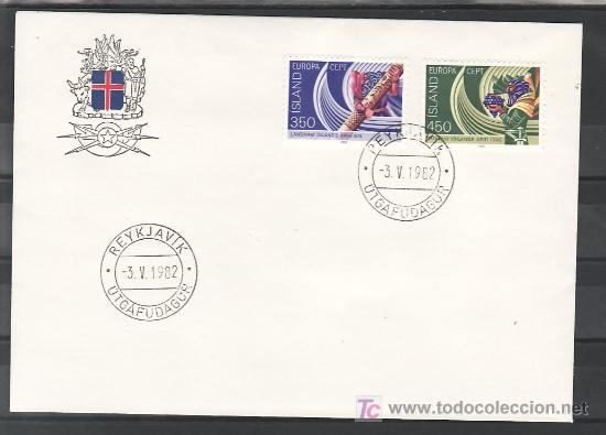 ISLANDIA 531/2 PRIMER DIA, TEMA EUROPA 1982, HECHOS HISTORICOS, (Sellos - Extranjero - Europa - Islandia)