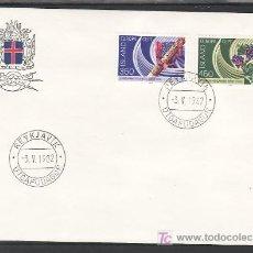 Sellos: ISLANDIA 531/2 PRIMER DIA, TEMA EUROPA 1982, HECHOS HISTORICOS, . Lote 10834409