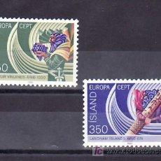 Sellos: ISLANDIA 531/2 SIN CHARNELA, TEMA EUROPA 1982, HECHOS HISTORICOS, . Lote 11903639
