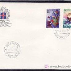 Sellos: ISLANDIA 518/9 PRIMER DIA, TEMA EUROPA 1981, FOLKLORE, . Lote 11769528