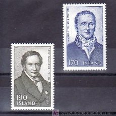 Sellos: ISLANDIA 516/7 SIN CHARNELA, PERSONAJES, . Lote 9797291