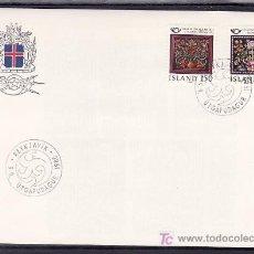Sellos: ISLANDIA 509/10 PRIMER DIA, NORDEN 80, ARTESANIA TRADICIONAL, . Lote 9797343