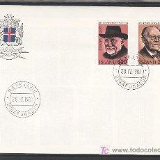 Sellos: ISLANDIA 505/6 PRIMER DIA, TEMA EUROPA 1980, LITERATURA, PERSONAJES, . Lote 9797455