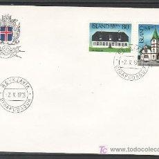 Sellos: ISLANDIA 483/4 PRIMER DIA, TEMA EUROPA 1978, MONUMENTOS, . Lote 10834413
