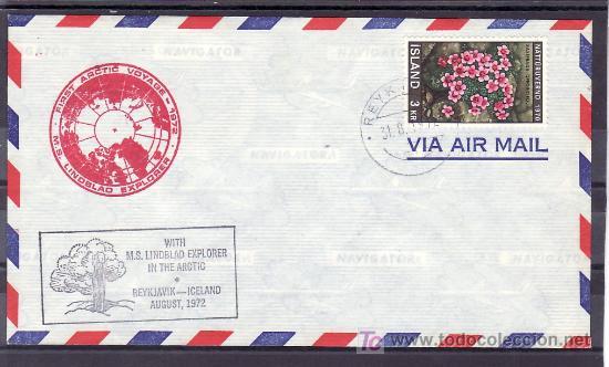 ISLANDIA 400 CON MARCA VIAJE ARTICO 1972, (Sellos - Extranjero - Europa - Islandia)