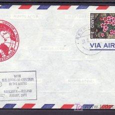 Sellos: ISLANDIA 400 CON MARCA VIAJE ARTICO 1972,. Lote 11720320
