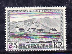 ISLANDIA 277 CON CHARNELA, ARQUITECTURA, RESIDENCIA PRESIDENCIAL EN BESSASTADIR, (Sellos - Extranjero - Europa - Islandia)