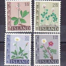 Sellos: ISLANDIA 336/9 SIN CHARNELA, FLORES, . Lote 9805608