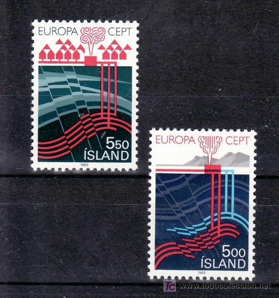 ISLANDIA 551/2 SIN CHARNELA, TEMA EUROPA 1983, GRANDES OBRAS DE LA HUMANIDAD, (Sellos - Extranjero - Europa - Islandia)