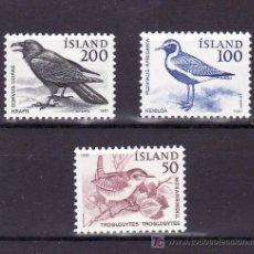 Sellos: ISLANDIA 520/2 SIN CHARNELA, FAUNA, AVES, PAJARO, . Lote 10558664