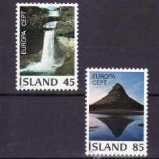 Sellos: ISLANDIA 475/6 SIN CHARNELA, TEMA EUROPA 1977, PAISAJES, . Lote 10558685