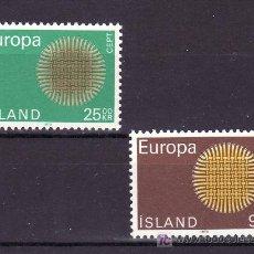 Sellos: ISLANDIA 395/6 SIN CHARNELA, TEMA EUROPA 1970. Lote 11737640