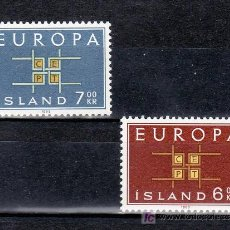 Sellos: ISLANDIA 328/9 SIN CHARNELA, TEMA EUROPA 1963. Lote 10558701