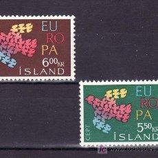Sellos: ISLANDIA 311/2 SIN CHARNELA, TEMA EUROPA 1961. Lote 10558710