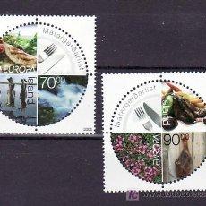 Sellos: ISLANDIA 1030/1 SIN CHARNELA, TEMA EUROPA 2005, GASTRONOMIA, . Lote 10558061