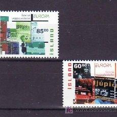 Sellos: ISLANDIA 966/7 SIN CHARNELA, TEMA EUROPA 2003, EL ARTE DEL CARTEL, . Lote 10558217