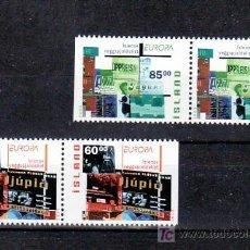 Sellos: ISLANDIA 966A/7A EN PAREJA DE CARNET SIN CHARNELA, TEMA EUROPA 2003, EL ARTE DEL CARTEL, . Lote 11417425