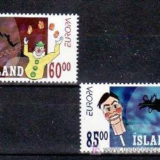Sellos: ISLANDIA 937/8 SIN CHARNELA, TEMA EUROPA 2002, CIRCO, . Lote 10558293