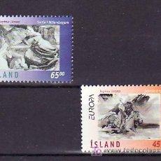 Sellos: ISLANDIA 825/6 SIN CHARNELA, TEMA EUROPA 1997, CUENTOS Y LEYENDAS, . Lote 10558347