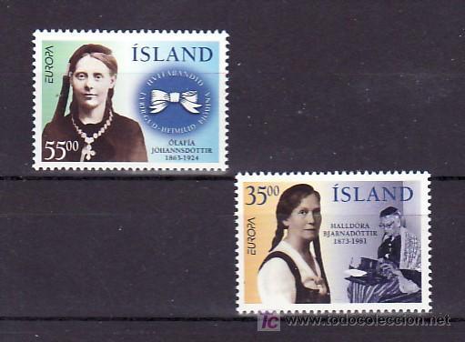 ISLANDIA 797/8 SIN CHARNELA, TEMA EUROPA 1996, MUJERES CELEBRES, (Sellos - Extranjero - Europa - Islandia)