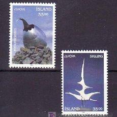 Sellos: ISLANDIA 739/40 SIN CHARNELA, TEMA EUROPA 1993, ARTE MODERNO, . Lote 10558406