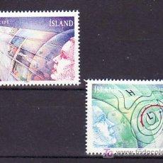 Sellos: ISLANDIA 695/6 SIN CHARNELA, TEMA EUROPA 1991, EUROPA Y EL ESPACIO, . Lote 11704150