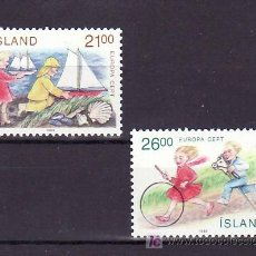 Sellos: ISLANDIA 654/5 SIN CHARNELA, TEMA EUROPA 1989, JUEGOS INFANTILES, . Lote 11483212