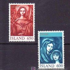 Sellos: ISLANDIA 579/80 SIN CHARNELA, NAVIDAD, RELIGION, . Lote 10558498