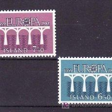 Sellos: ISLANDIA 567/8 SIN CHARNELA, TEMA EUROPA 1984, 25º ANIVERSARIO CONFERENCIA EUROPEA, . Lote 10558536
