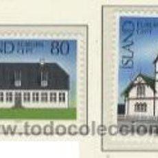 Sellos: ISLANDIA 1978 - EUROPA CEPT - YVERT 483/484. Lote 24360620