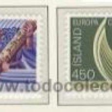 Sellos: ISLANDIA 1982 - EUROPA CEPT - YVERT 531/532. Lote 23011607