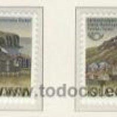 Sellos: ISLANDIA 1986 - VILLAS ISLANDESAS - YVERT 603/04. Lote 15760704
