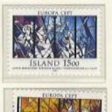 Sellos: ISLANDIA 1987 - EUROPA CEPT - YVERT 618/619. Lote 15760964
