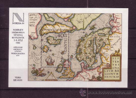ISLANDIA HB 6*** - AÑO 1984 - EXPOSICION FILATELICA INTERNACIONAL NORDIA 84 - MAPAS (Sellos - Extranjero - Europa - Islandia)
