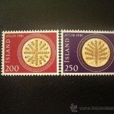 Sellos: ISLANDIA 1981 IVERT 527/8 *** NAVIDAD - EMPANADAS ISLANDESAS DE NAVIDAD. Lote 21804886