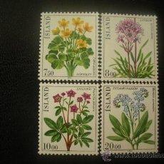 Sellos: ISLANDIA 1983 IVERT 545/8 *** FLORES DIVERSAS - FLORA. Lote 21805045