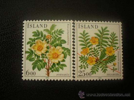 ISLANDIA 1984 IVERT 565/6 *** FLORES DIVERSAS - FLORA (Sellos - Extranjero - Europa - Islandia)