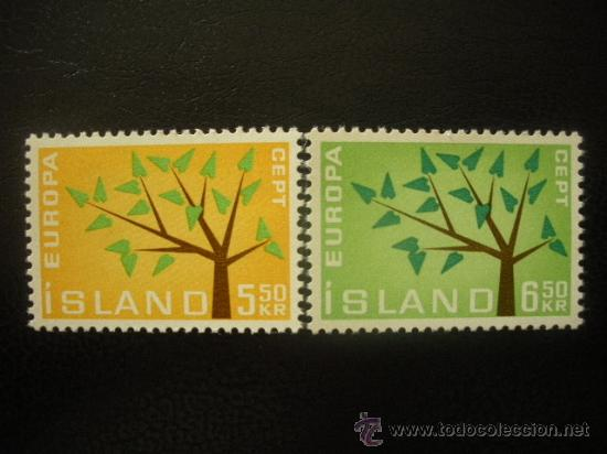 ISLANDIA 1962 IVERT 319/20 *** EUROPA (Sellos - Extranjero - Europa - Islandia)