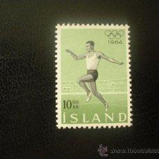 Sellos: ISLANDIA 1964 IVERT 342 *** JUEGOS OLIMPICOS DE TOKYO - DEPORTES. Lote 21825349