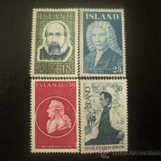 Sellos: ISLANDIA 1975 IVERT 458/61 *** PERSONAJES CELEBRES. Lote 21825805
