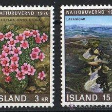 Sellos: ISLANDIA AÑO 1970 YV 400/01*** AÑO EUROPEO PROTECCIÓN NATURALEZA - FLORA - TURISMO. Lote 22672543