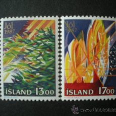 Sellos: ISLANDIA 1987 IVERT 631/2 *** NAVIDAD - PINTURA. Lote 25722701