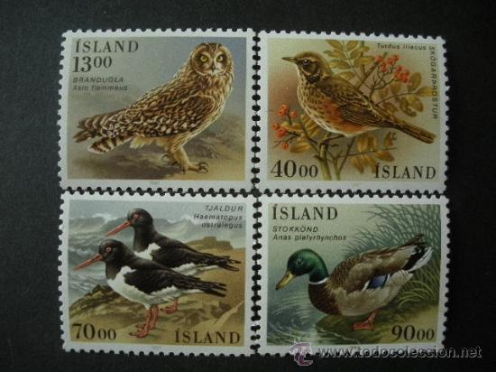 ISLANDIA 1987 IVERT 621/4 *** FAUNA ISLANDESA - AVES (Sellos - Extranjero - Europa - Islandia)
