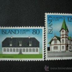 Sellos: ISLANDIA 1978 IVERT 483/4 *** EUROPA - MONUMENTOS. Lote 25723081