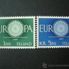 Sellos: ISLANDIA 1960 IVERT 301/2 *** EUROPA. Lote 25723378